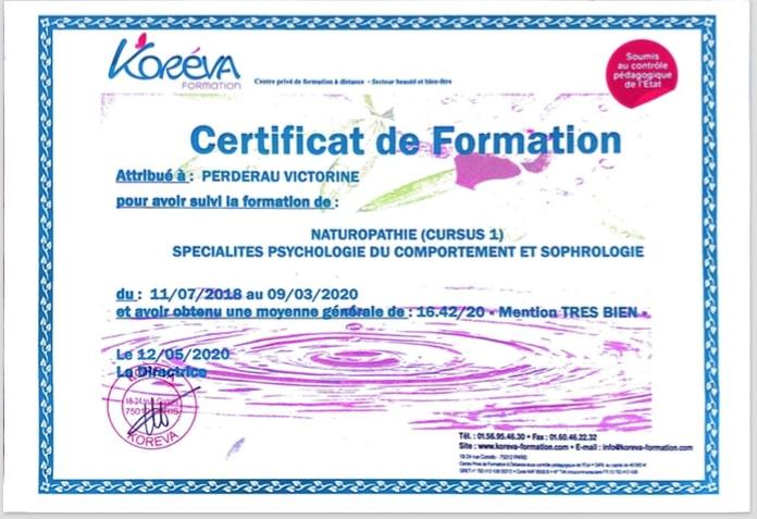 Diplôme Naturopathe (1) Spécialités Psychologie du comportement & Sophrologie